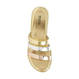 MICHAEL Michael Kors Shoes - MICHAEL Michael Kors Keiko Slide Gold Sandal